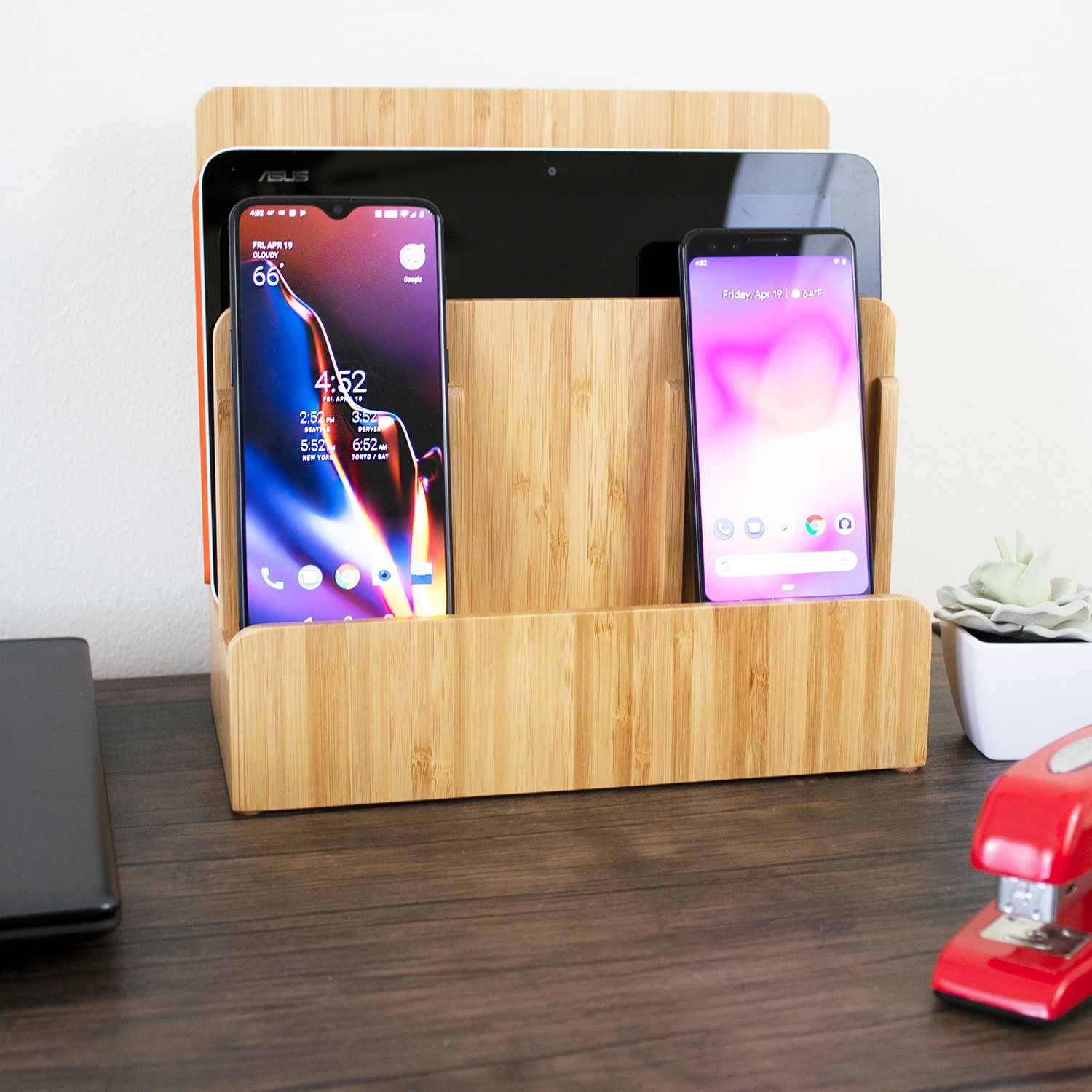 Eco Bamboo Multi Device Charging Station Review Stylish Power