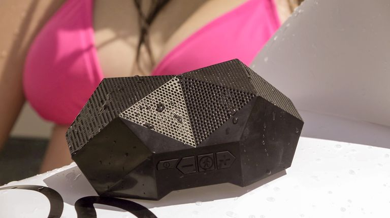 Side profile of the Outdoor Tech Turtle Shell 3.0 speaker