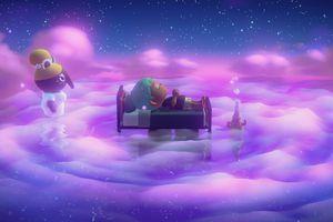 Animal Crossing: New Horizons sleeping mechanic press image