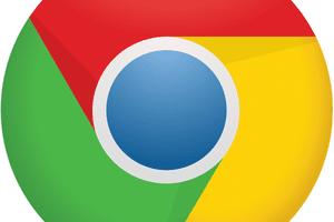 Google Chrome logo.
