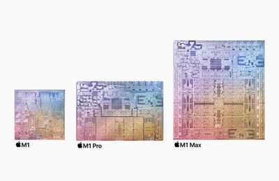 Apple M1 Max compared to the M1 and M1 Pro