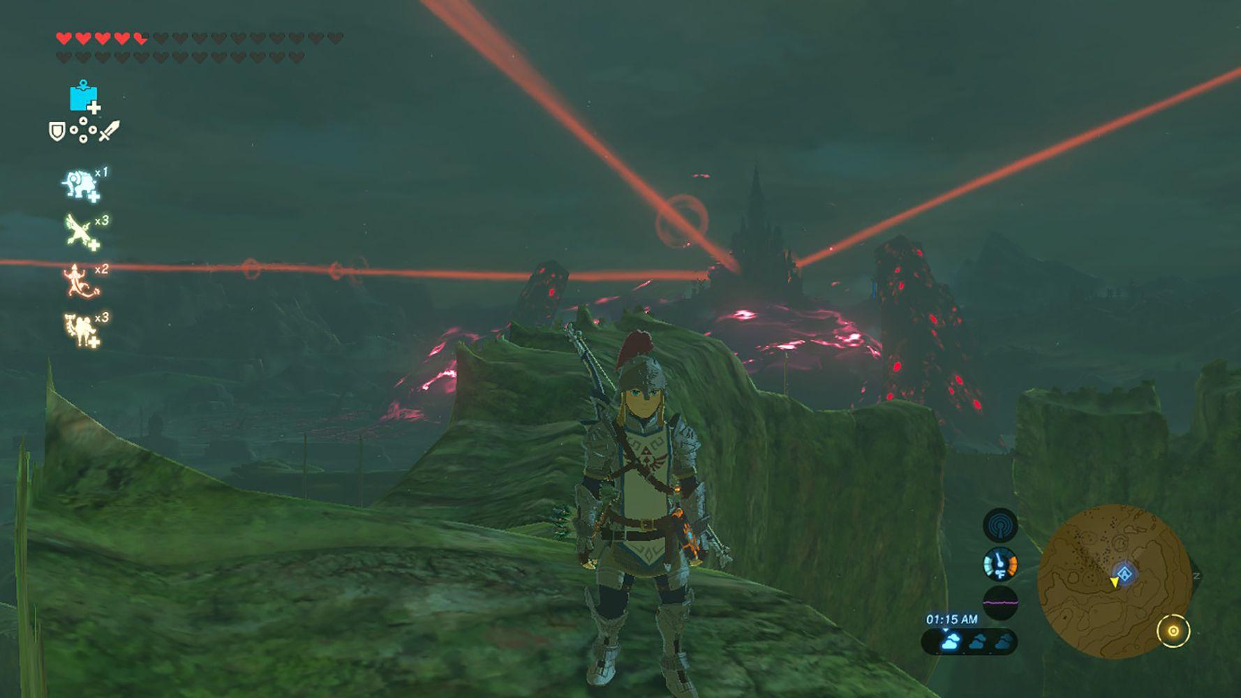 Screenshot of the Soldier's Armor in Zelda: BOTW