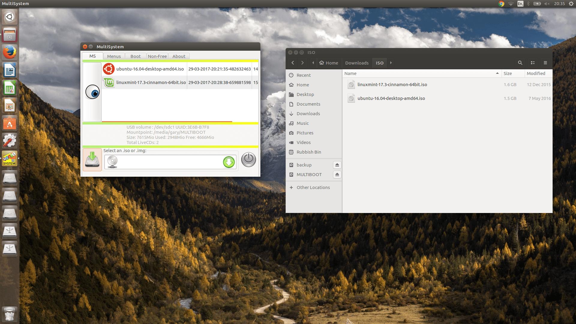 Add Linux Distributions Using Multisystem screenshot