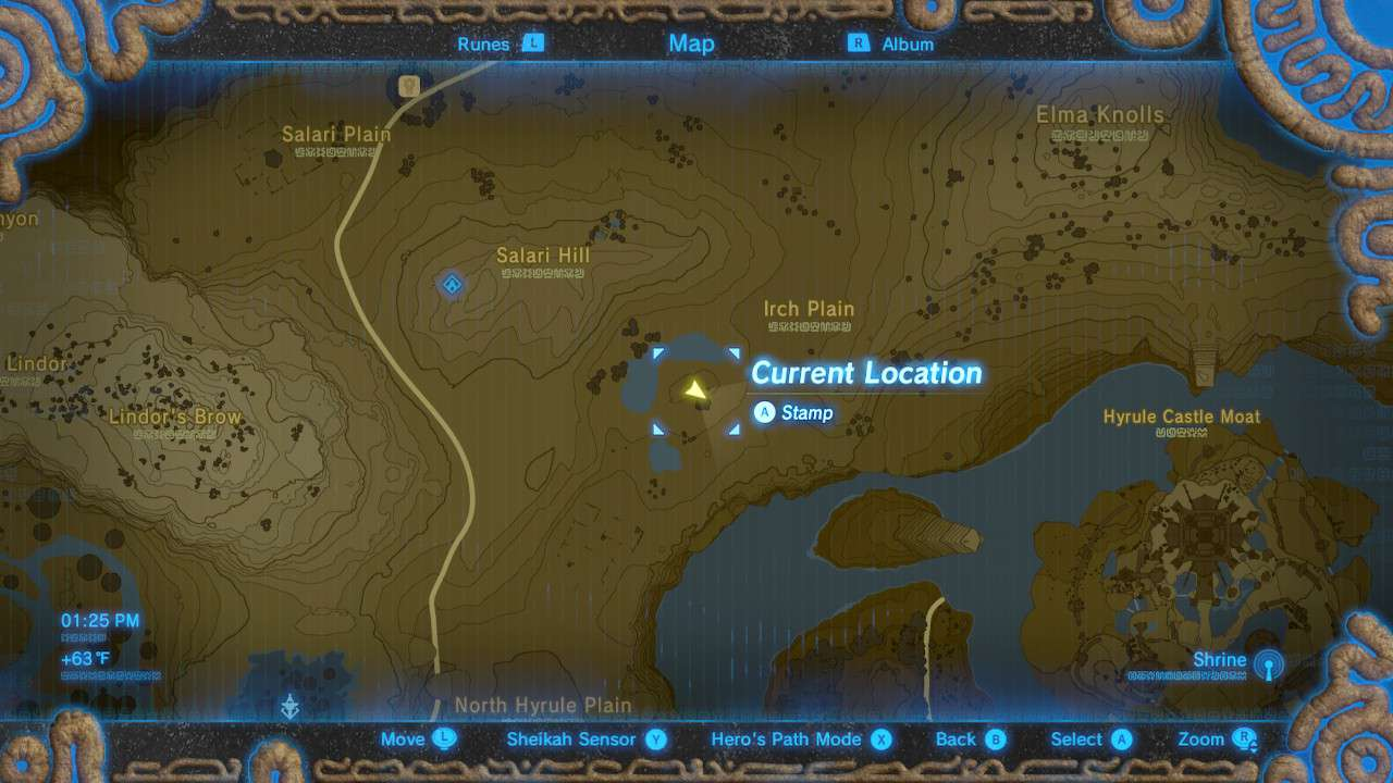 Map of Royal Ancient Lab Ruins in The Legend of Zelda: Breath of the Wild.