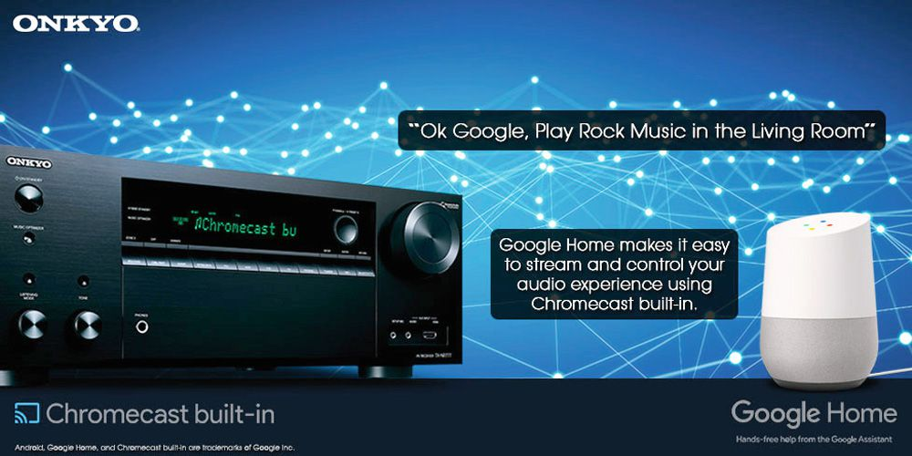 Google Home Works With Onkyo Theater Receivers