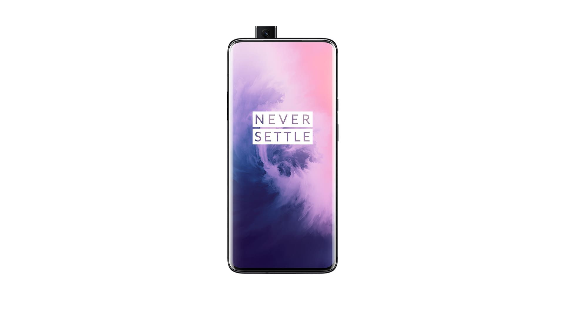 The OnePlus 7 Pro phone facing forward