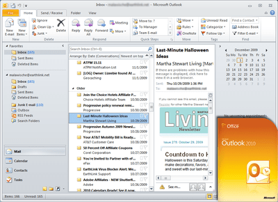 Microsoft Outlook 2010 Box Shot and Screenshot