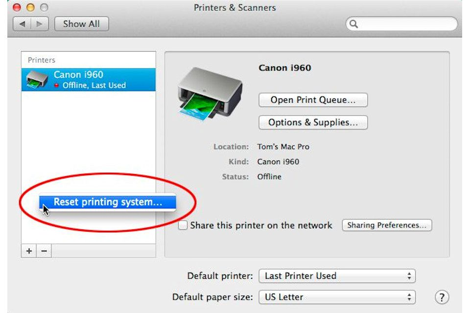 Reset Your Mac's Printing System to Fix OS X Printer Problems