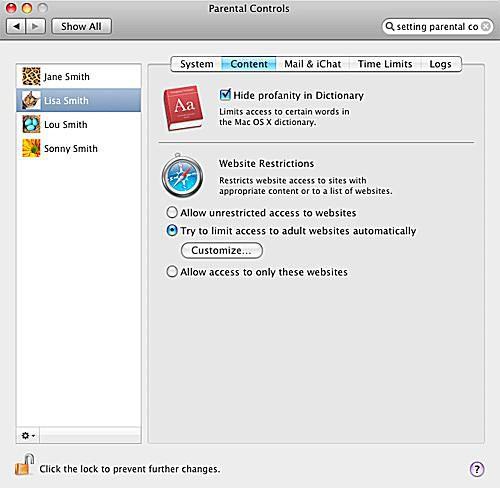 Parental Controls - Set Up Parental Controls on Your Mac