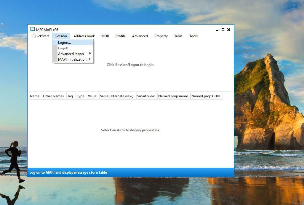 Screenshot of Session > Logon