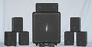 EMP Tek Cinema 7 - 7.1 Channel Speaker System - Photo - Front View - Grills On