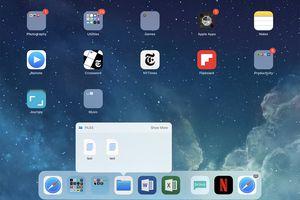 screenshot of iPad dock in iOS 12