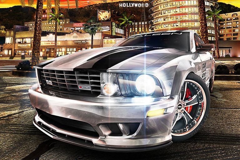Shiny silver car from Midnight Club: Los Angeles
