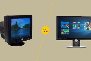 CRT vs. LCD monitor