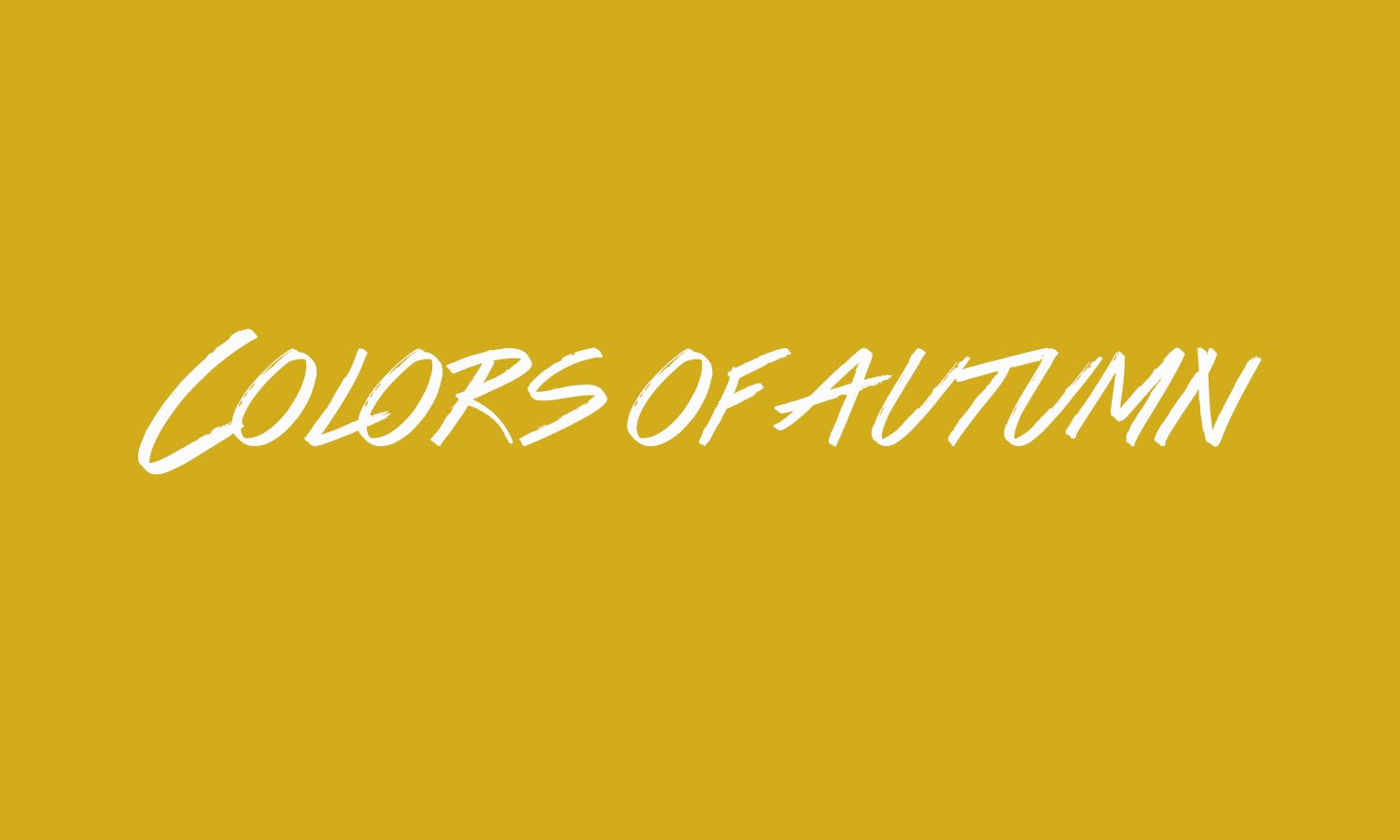 The Colors of Autumn font