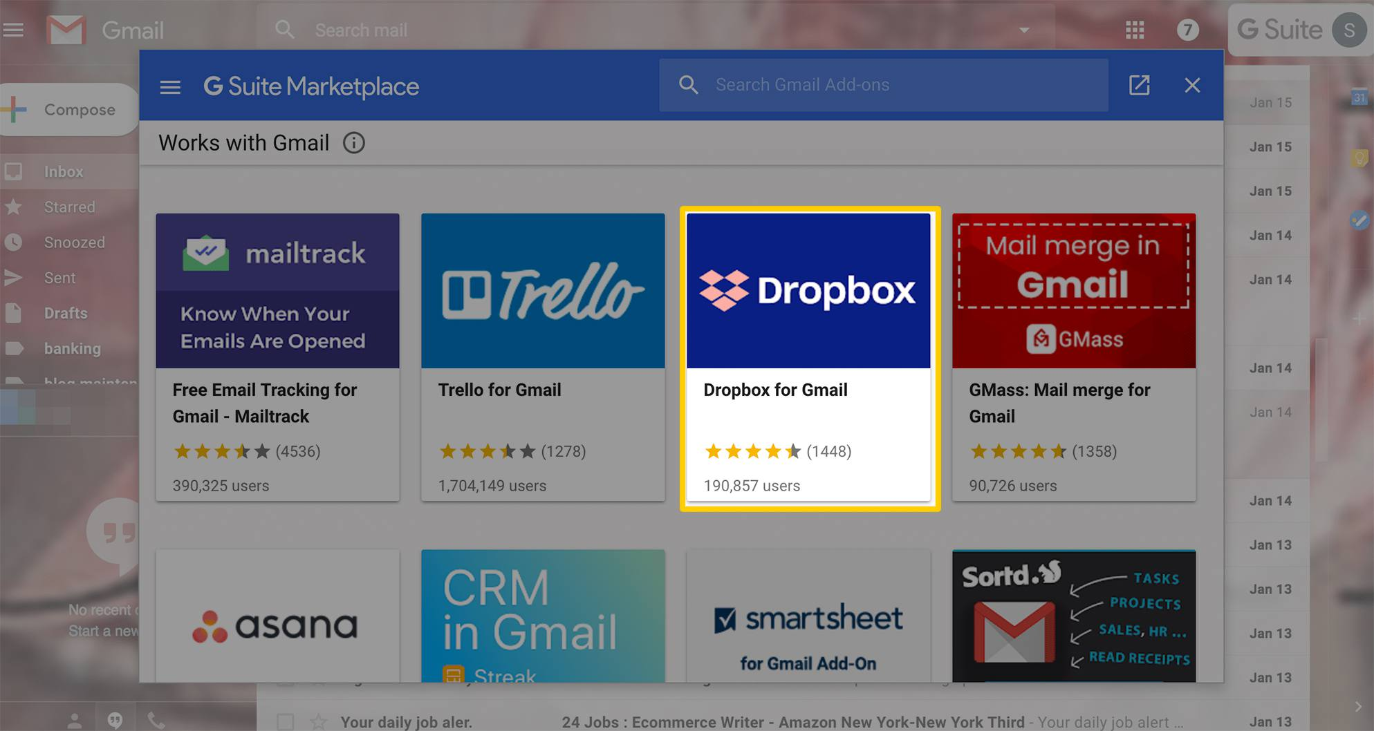 How To Share Files With The Dropbox For Gmail Add On