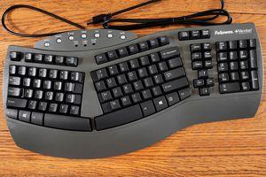 Fellowes Microban Split Design Wired Keyboard