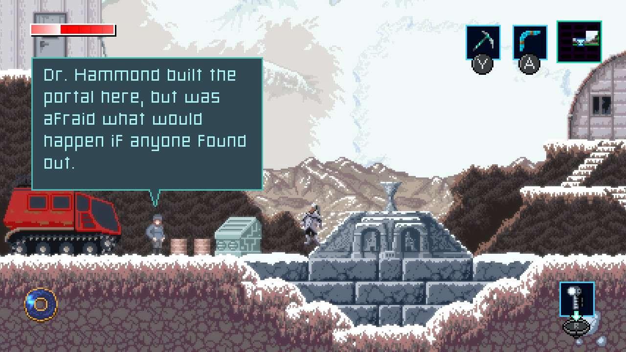 Screenshot from Axiom Verge 2.