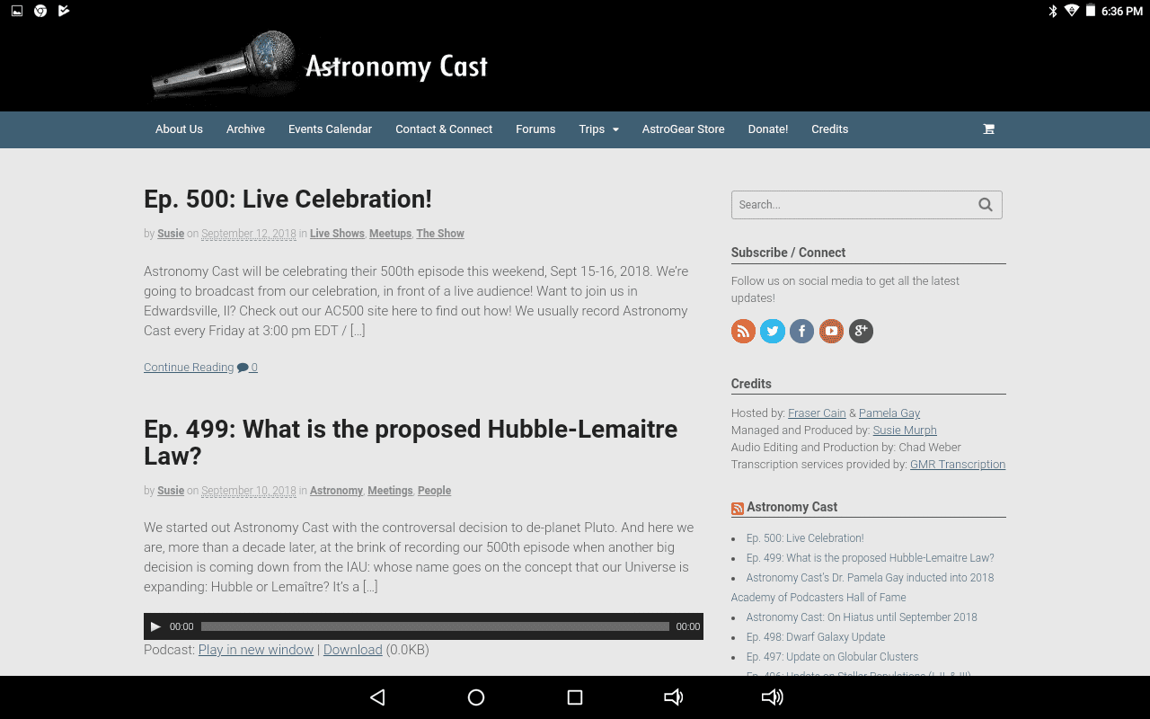 Astronomy Cast home page