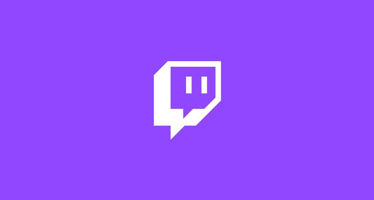 Twitch logo on purple background