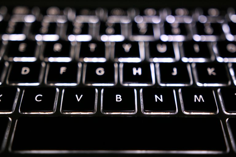 Close up of macbook keyboard
