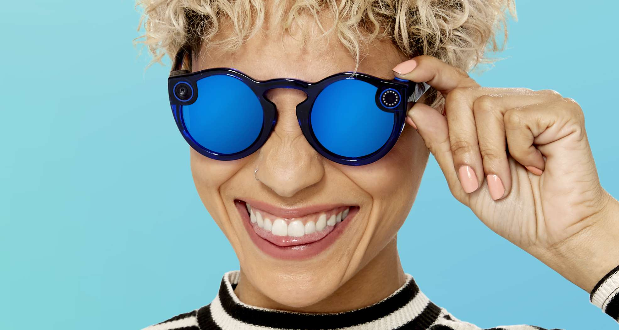 Snapchat Spectacles button
