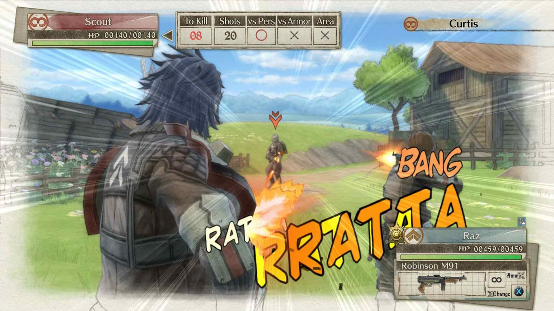 Valkyria Chronicles 4 offline strategy roleplaying vidoe game.