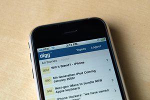 Digg on iPhone