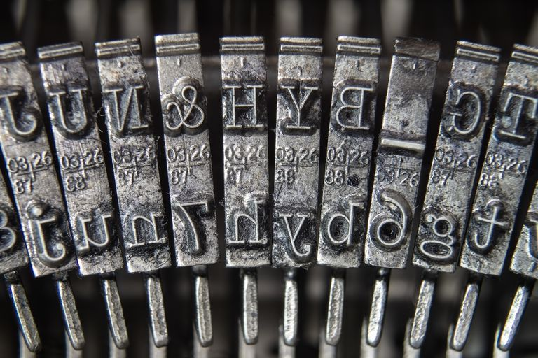 Close-Up of Typewriter Typebars