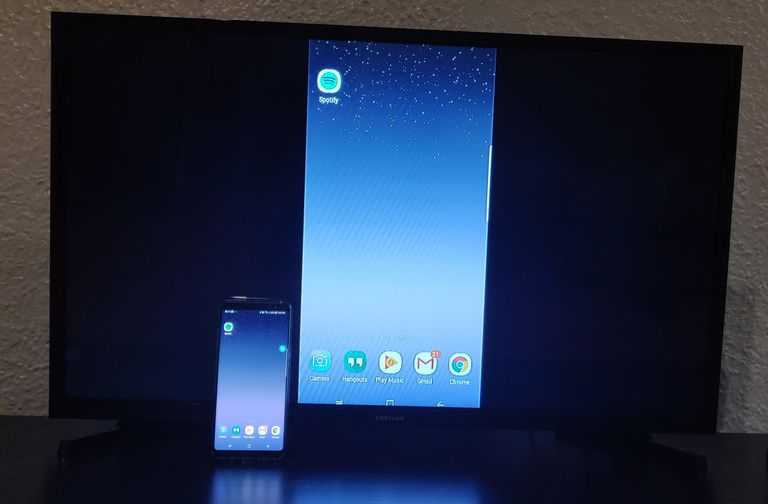 Samsung Galaxy Note 8 mirrored to Samsung TV