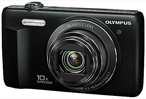 The Olympus VR-350, which is basically identical to the VR-340, is available in a variety of colors, depending on where you live in the world, including white, silver, red, purple, and black. The VR-340 and VR-350 are sold in different parts of the world.