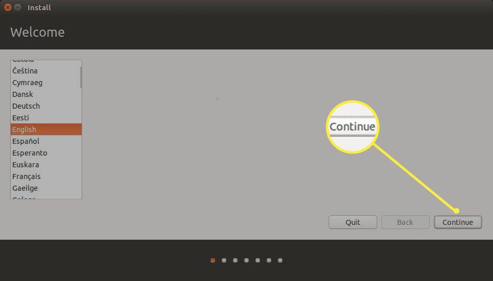 Ubuntu Installer Choose Language