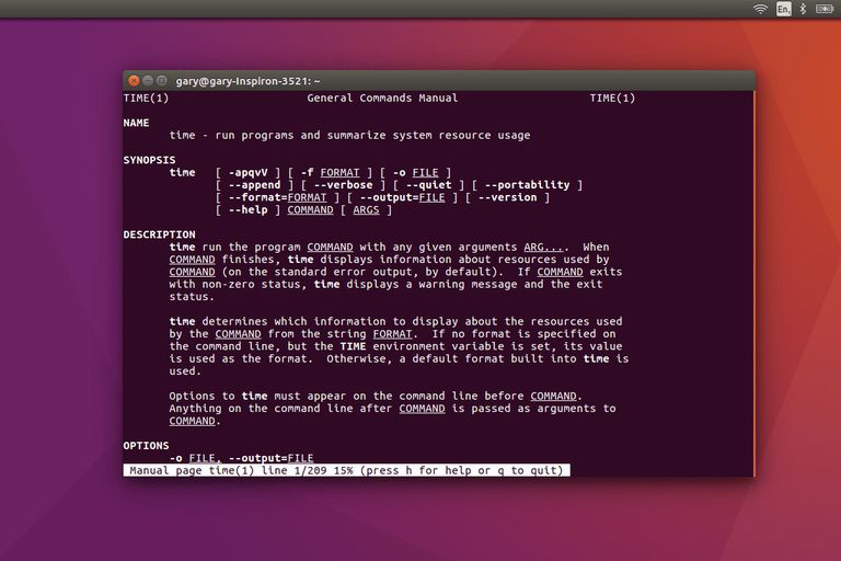 The Linux Time Command on desktop