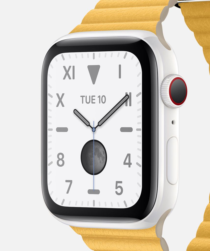 Apple Watch Series 5 Edition with white ceramic body
