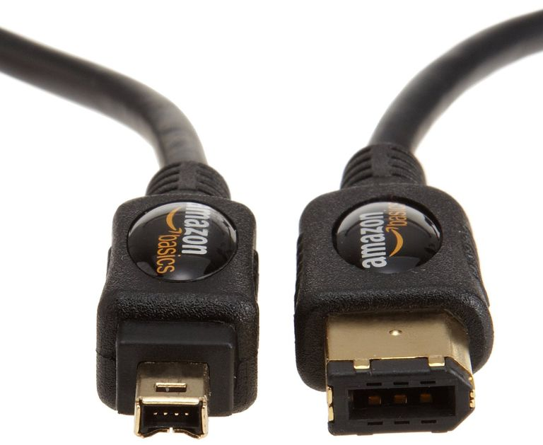 Photo of an AmazonBasics IEEE 1394 4-Pin to 6-Pin FireWire Cable