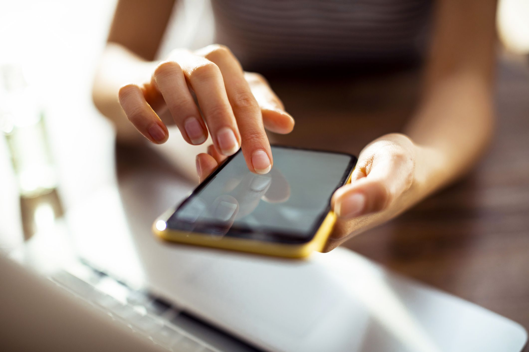 person using a smartphone