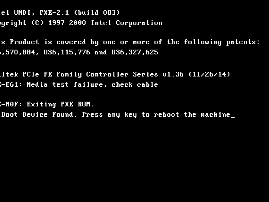 How to Fix 'PXE-E61: Media Test Failure, Check Cable' Error