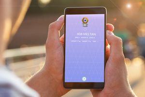 Pokemon 808 Meltan in the Pokemon Go app.