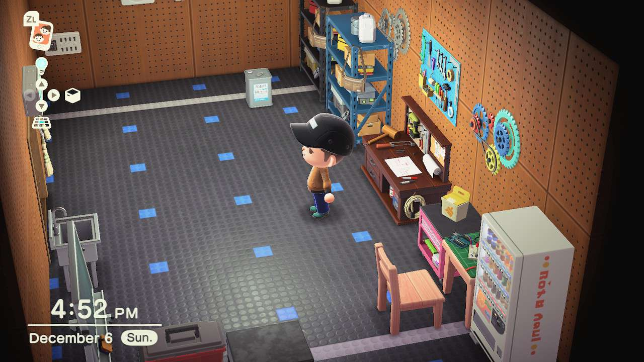 A cool basement shop in Animal Crossing: New Horizons
