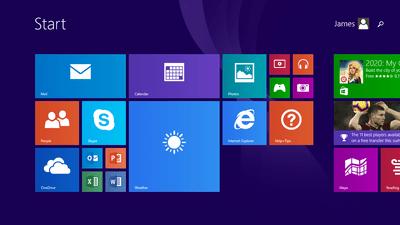 The Windows RT 8.1 Start Menu