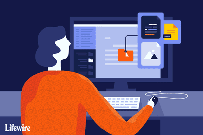 An illustration of a person working at a computer opening email with multiple attachments.