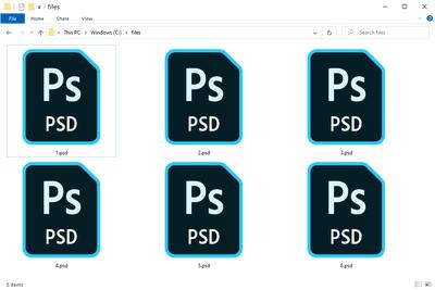 PSD files in Windows 10