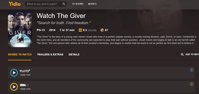 The Giver free stream links through Yidio