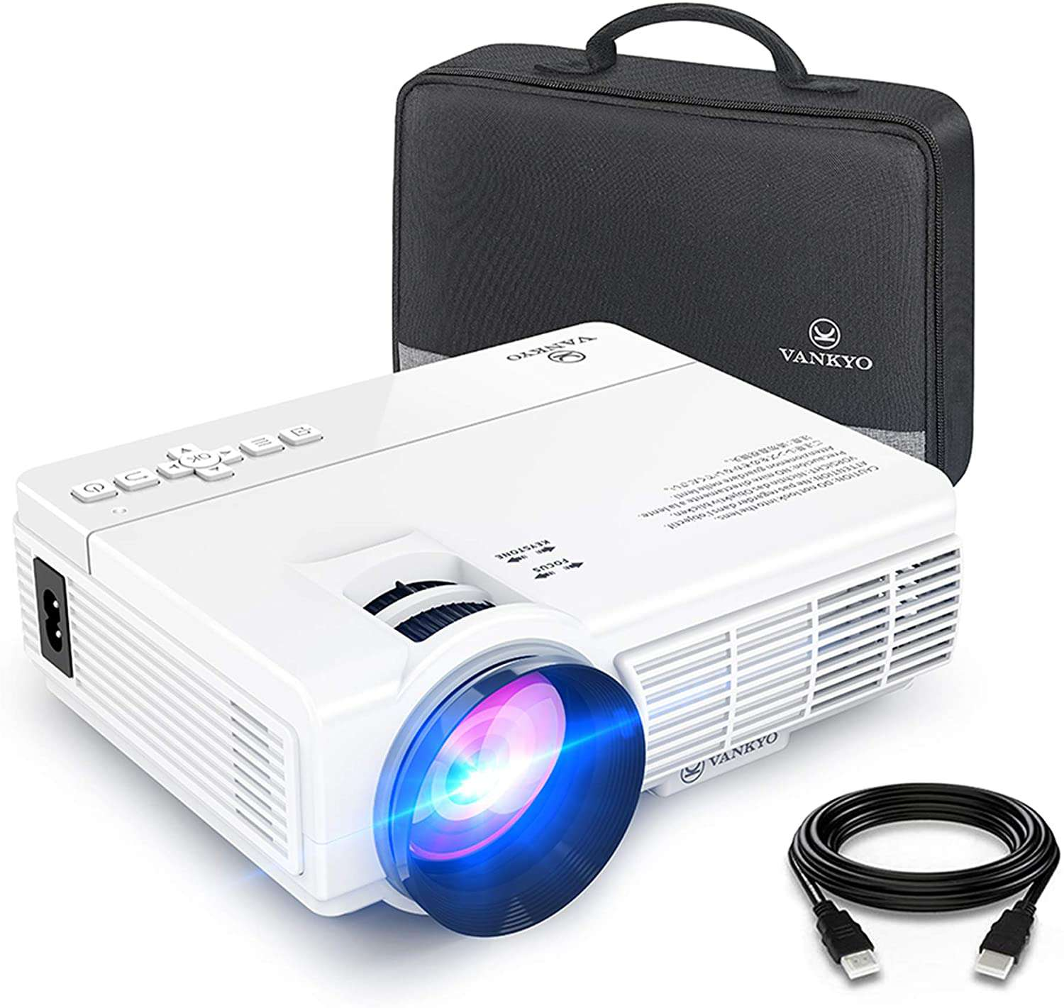 The Vankyo projector is a very portable projector.