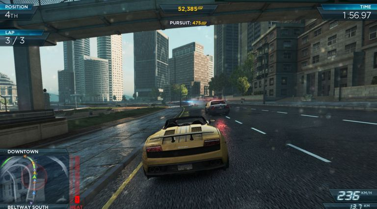 Gameplay screenshot of Need For Speed Most Wanted