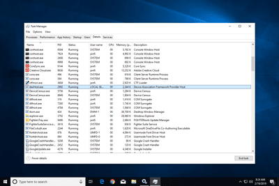 dasHost.exe in Task Manager