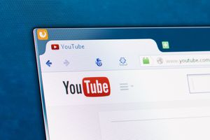 An image of the YouTube logo in a web browser.