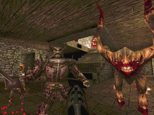 Screenshot from the original Quake video game.