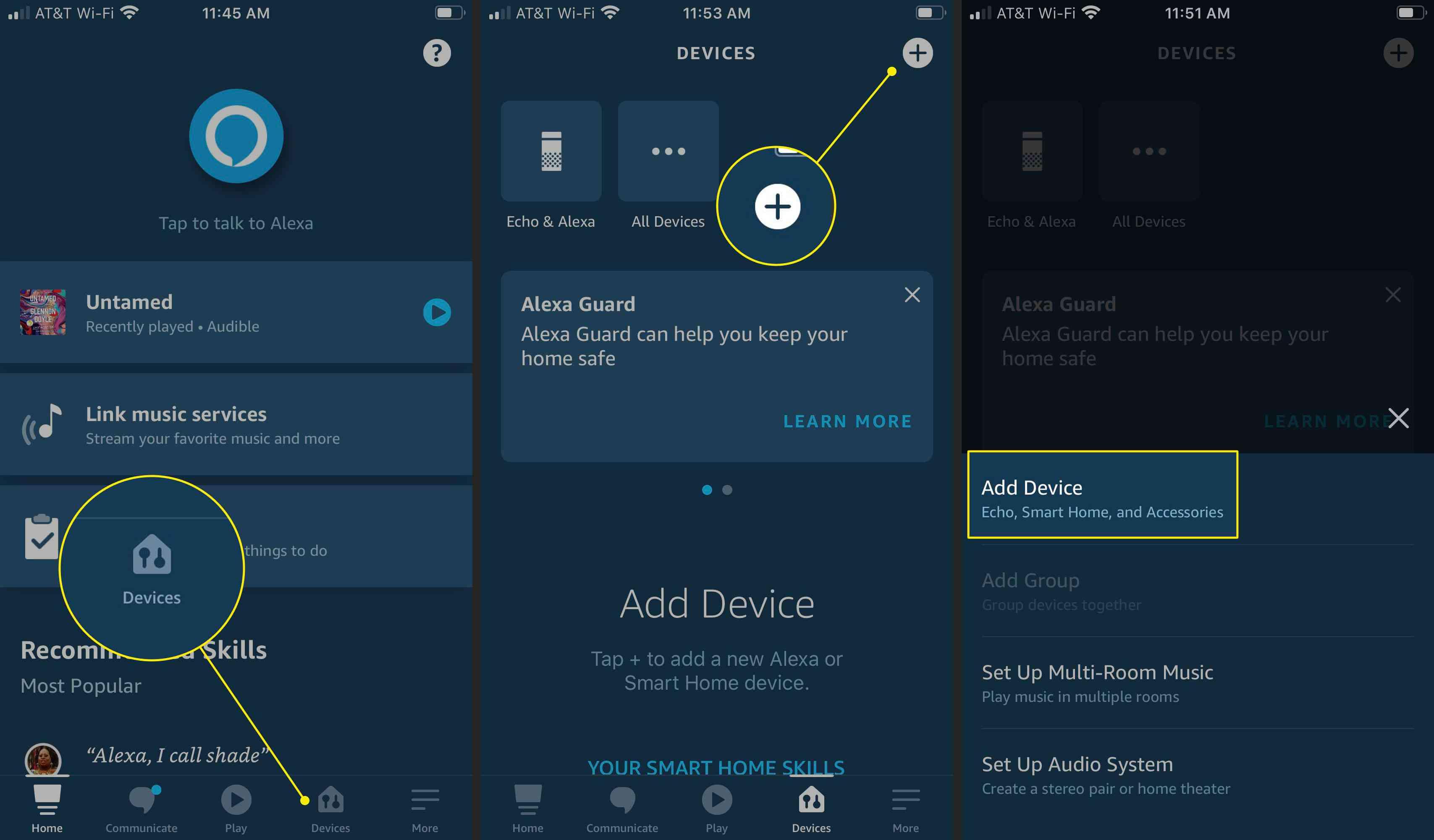 Adding a device to the Alexa app