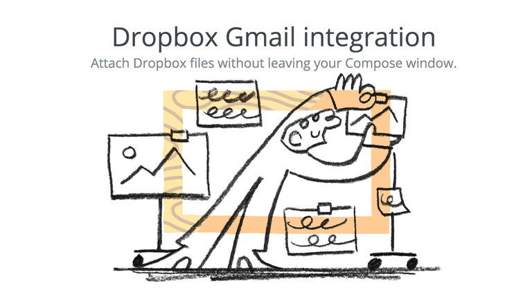 Screenshot of Dropbox Gmail integration drawing